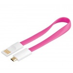 PremiumCord Kabel micro USB 2.0, A-B 0,2m magnetický, barva růžová, ku2m02fmp