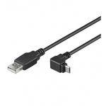 PremiumCord Kabel microUSB 2.0, A-B, 90°, 1.8m, ku2m2f-90