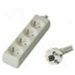 Premiumcord Prodlužovací přívod 230V, 3m, 4 zásuvky, PP4-03