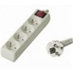 Premiumcord Prodlužovací přívod 230V, 2m, 4 zásuvky + vypínač, PP4K-02