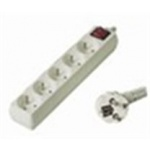Premiumcord Prodlužovací přívod 230V, 5m, 5 zásuvek + vypínač, PP5K-05