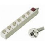 Premiumcord Prodlužovací přívod 230V, 2m, 6 zásuvek + vypínač, PP6K-02