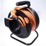 PremiumCord Prodlužovací kabel 230V 50m buben, průřez vodiče 3x1,5mm2, 1x zásuvka, ppb-02-50