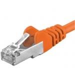 Premiumcord Patch kabel CAT6a S-FTP, RJ45-RJ45, AWG 26/7 0,25m oranžová, sp6asftp002E