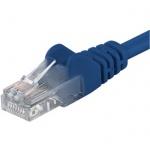 PremiumCord Patch kabel UTP RJ45-RJ45 CAT6 3m modrá, sp6utp030B