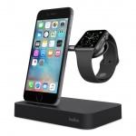 BELKIN bezdrátová QI nabíječka pro Apple Watch/iPhone, černá, F8J183vfBLK