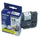 Brother TZE-241,  bílá/černá, 18mm, TZE241