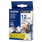 Brother TZE-233,  bílá/modrá, 12mm, TZE233