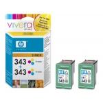 HP no. 343 - 3 barevná ink. kazeta, 2-pack,CB332EE, CB332EE - originální