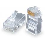Solarix Konektor RJ45 CAT5E UTP 8p8c pro drát 100ks bal., KRJ45/5SLD