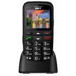 iGET SIMPLE D7 Black, seniorský, Bluetooth, FM rádio, kamera, svítilna,výdrž 15 dní,microSD,stojánek, D7 Black