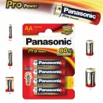 Alkalická baterie AA Panasonic Pro Power LR6 4ks, 09718