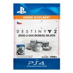 Sony Esd ESD CZ PS4 - 2000 (+300 Bonus) Destiny 2 Silver, SCEE-XX-S0032997
