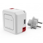 Zásuvka PowerCube PowerUSB Portable 5000mAh, White, 435796
