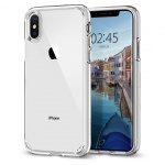 Kryt Spigen Ultra Hybrid pro Apple iPhone XS/X transparentní, 063CS25115