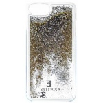 Guess Liquid Glitter Hard Pouzdro Gold pro iPhone 6/6S/7 Plus, 3700740398159
