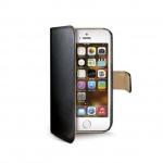 Celly Pouzdro typu kniha Wallet pro iPhone 5/5S, černé, WALLY185