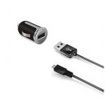 Celly set autonab. s USB a MicroUSB 2,4 A, černá, CCUSBMICRO