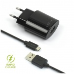 Síťová nabíječka FIXED, micro USB, 2,4A, FIXC-UM-BK