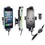 Brodit držák do auta na Apple iPhone 5/5S/S v pouzdru, s nabíjením z cig. zapalovače/USB, PBR-521500