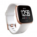 Fitbit Versa - White Band / Rose Gold Case, FB505RGWT-EU