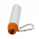 BOX Products 2000mAh Carabiner Pocket Charger - or, BX-BPB2000ORG
