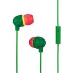 MARLEY Little Bird - Rasta, sluchátka do uší s ovladačem a mikrofonem, EM-JE061-RA