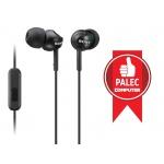 SONY sluchátka MDR-EX110AP, handsfree, černé, MDREX110APB.CE7
