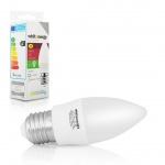 Whitenergy WE LED žárovka SMD2835 C37 E27 3W studená bílá, 10212