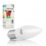 WE LED žárovka SMD2835 C37 E27 5W studená bílá, 10214