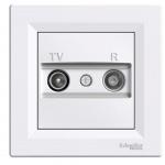 Schneider Electric Asfora zásuvka TV+R průběžná 4dB White, EPH3300221