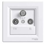 Schneider Electric Asfora - zásuvka TV-R-SAT, koncová - 1 dB - bílá, EPH3500121