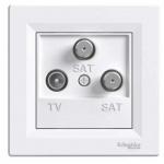 Asfora - Zásuvka TV-SAT-SAT, koncová - 1 dB - bílá, EPH3600121