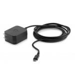 HP 15W USB Type-C AC Adapter, N2L83AA#ABB