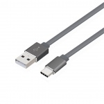TB Touch Cable USB CM - USB AM, metal connestor,2m, grey, AKTBXKU1PAC200G