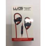 Bluetooth Sluchátka s Mikrofonem červená-černá 4006