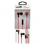 HF Stereo 3,5 mm jack sluchátka (Červená)