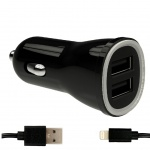 DUAL USB Charger 3,1A + MFI APPLE Cable