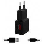 WINNER Síťová nabíječka Fast USB (2.4A)+kab Type C černá 6227
