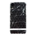 SoSeven Fashion Milan Hexagonal Marble Black/Silver pro iPhone XR