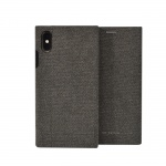 SoSeven Premium Gentleman Book Case Fabric Anthracite pro iPhone X/XS, 2442451