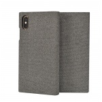 SoSeven Premium Gentleman Book Case Fabric Grey pro iPhone X/XS, 2442452