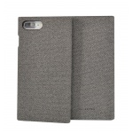 SoSeven Premium Gentleman Book Case Fabric Grey pro iPhone 6/6S/7/8 Plus, 2442455