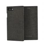 SoSeven Premium Gentleman Book Case Fabric Anthracite pro iPhone 6/6S/7/8 Plus
