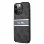 GUHCP13L4GDGR Guess PU 4G Printed Stripe Zadní Kryt pro iPhone 13 Pro Grey, 57983105710