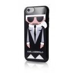 KLHCP6KKORO Karl Lagerfeld Karl and Choupette TPU Case Black pro iPhone 6/6S, 2438465