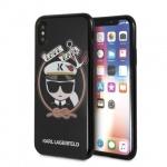 KLHCPXKSB Karl Lagerfeld Karl Sailor TPU Case Black pro iPhone X, 2439202