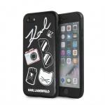 KLHCI8PIN Karl Lagerfeld Pins Hard Case Black pro iPhone 7/8, 2439207