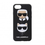 KLHCI8KICKC Karl Lagerfeld Karl and Choupette Hard Case Black pro iPhone 8, 2437266