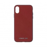 CEHCPXPSHBRE CERRUTI Leather Hard Case Burgundy pro iPhone X / XS, 2438461